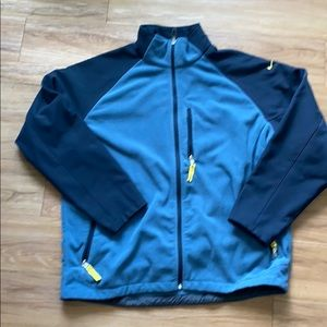 Nike fleece and polyester zip up jacket